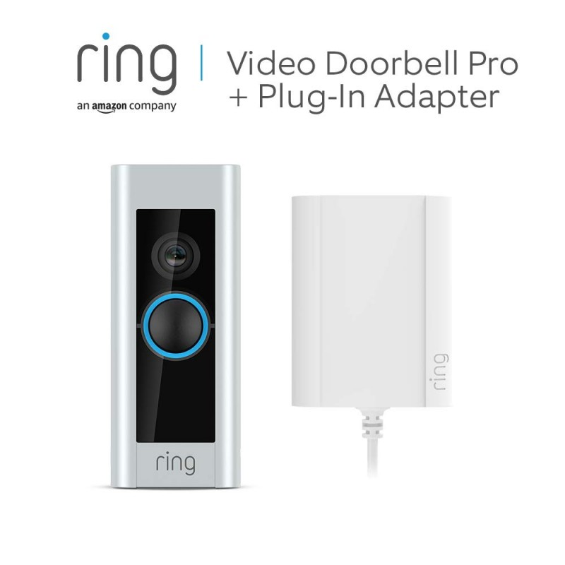 Ring Video Doorbell Pro with Plug-In Adapter