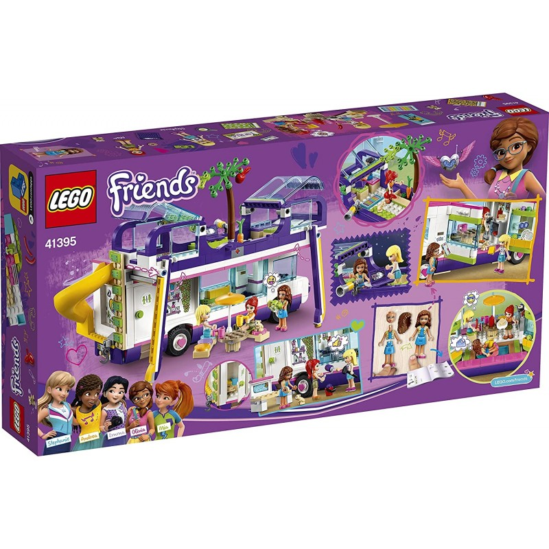Lego Friends Friendship Bus Toy Playset with Swimming Pool and Slide 41395