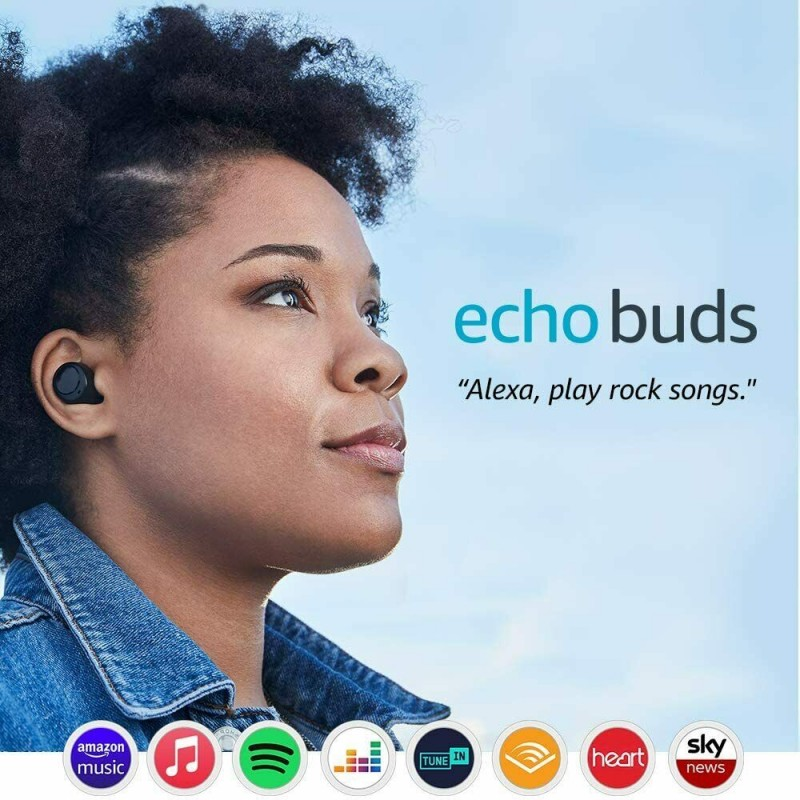 Amazon Echo Buds Wireless Earbuds With Immersive Sound and Alexa - Black