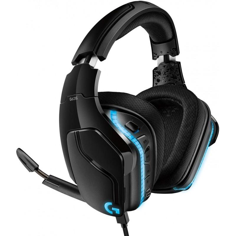 Logitech G635 Wired Gaming RGB Headset, 7.1 Surrou...