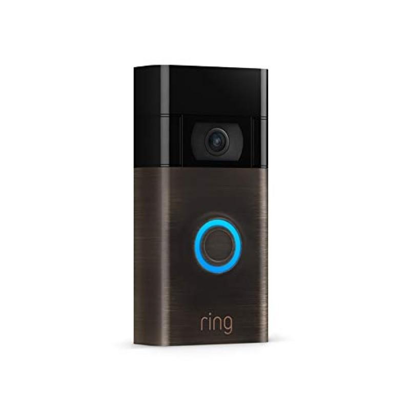 Ring Video Doorbell 1080p HD video (2nd Gen) Bronz...