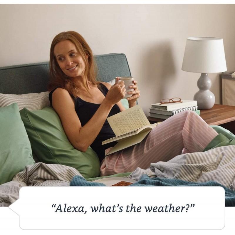 Amazon Echo (2nd Gen) - Smart speaker with Alexa - Charcoal Fabric - Refurbished