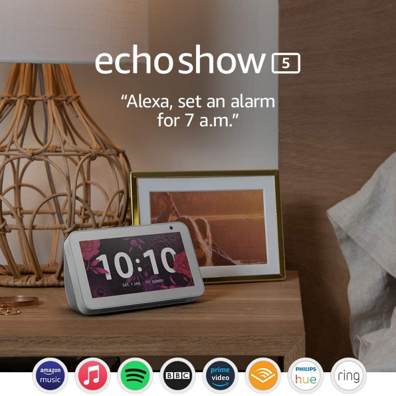 Echo Show 5 – Stay in touch with the help of Alexa Sandstone