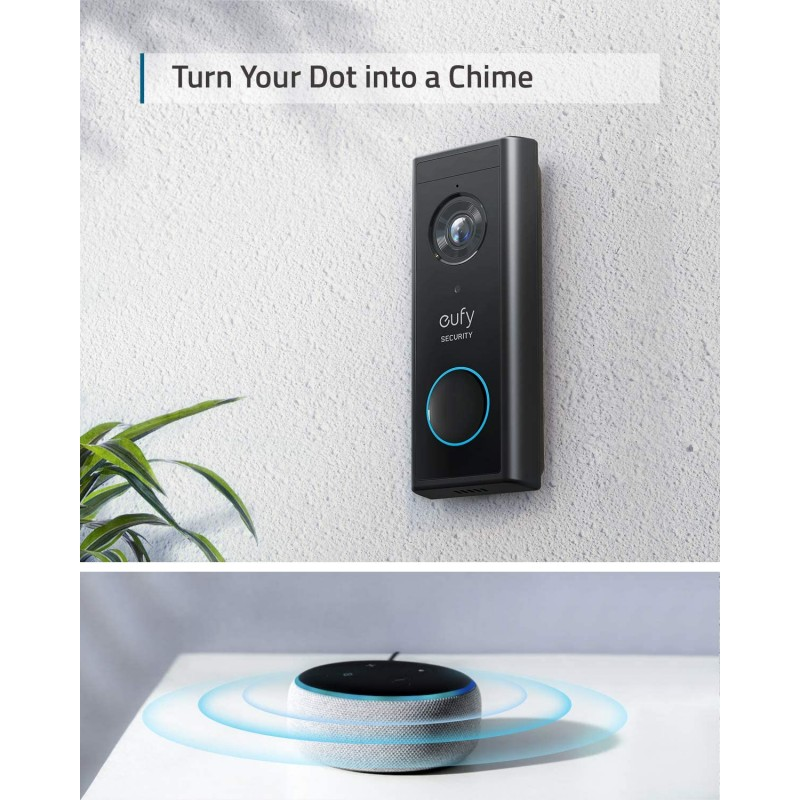 Eufy Video Doorbell 2K With Homebase, Battery Powered