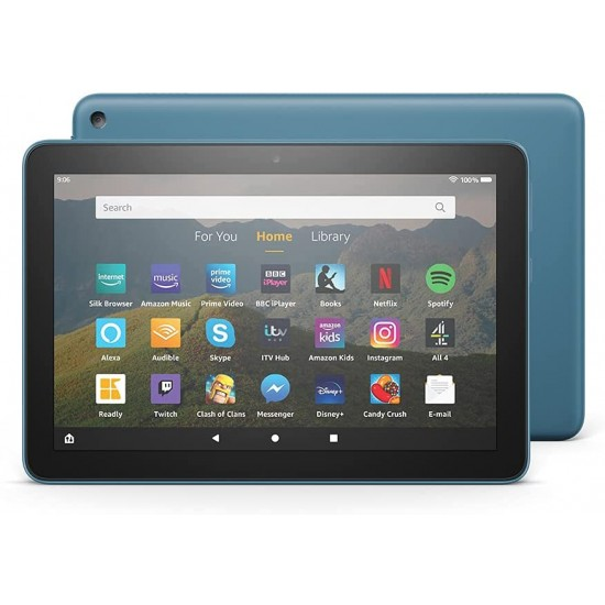 """Amazon Fire HD 8 Tablet 8"""" HD display 32 GB Blue - with Ads"""