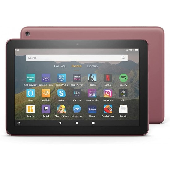 """Amazon Fire HD 8 Tablet 8"""" HD display 32 GB Plum - with Ads"""