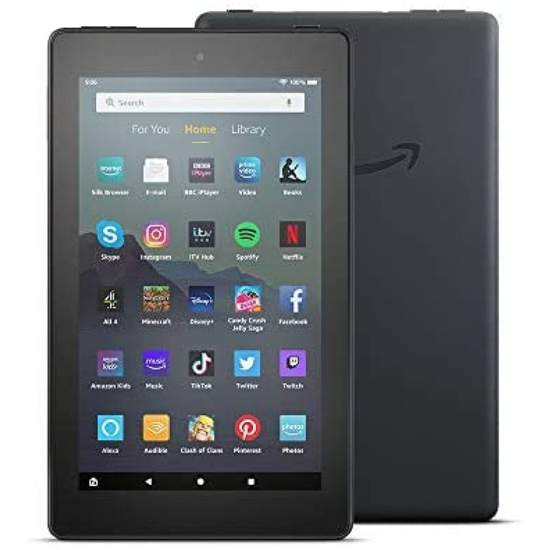 "Amazon Fire 7 Tablet 7"" display, 32 GB, Black..."