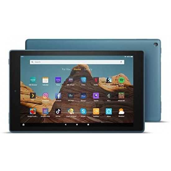 """Amazon Fire HD 10 Tablet   10.1"""" 1080p Full HD display, 32 GB, Twilight Blue - with Ads (Previous Generation - 9th)"""