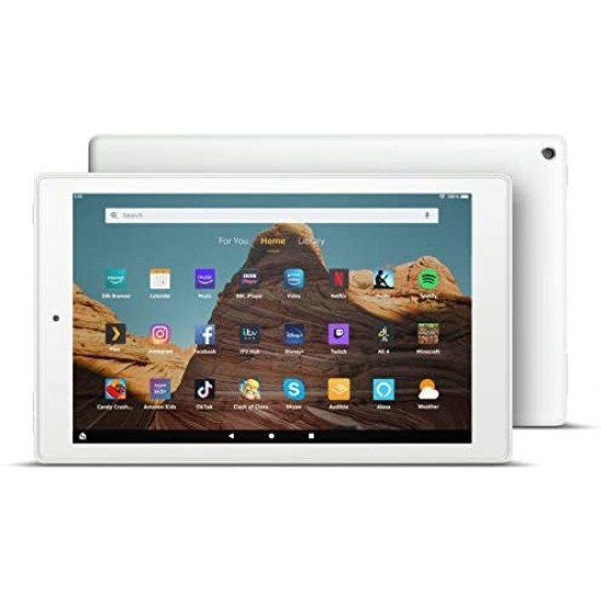 """Amazon Fire HD 10 Tablet   10.1"""" 1080p Full HD display, 32 GB, White - with Ads (Previous Generation - 9th)"""