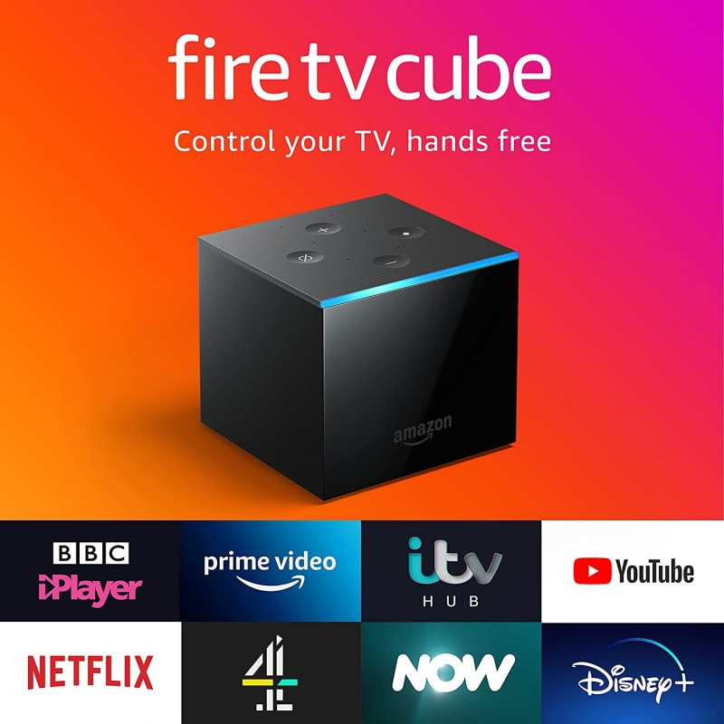 Fire TV Cube Hands free with Alexa 4K Ultra HD streaming media player