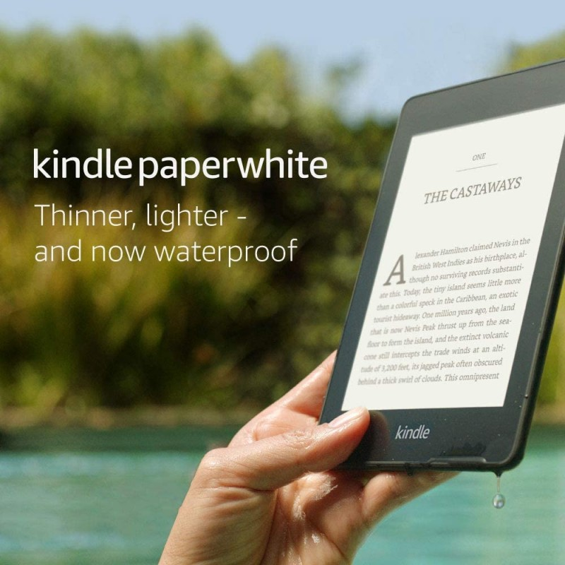 """Kindle Paperwhite Waterproof, 6"""" High-Resolution Display, 32 GB with Ads - Black"""