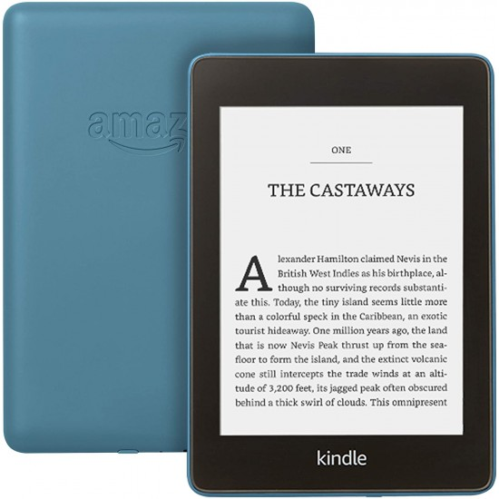 """Kindle Paperwhite Waterproof, 6"""" High-Resolution Display, 8 GB with Ads - Twilight Blue"""