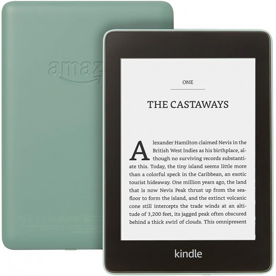 """Kindle Paperwhite Waterproof, 6"""" High-Resolution Display, 32GB with Ads - Sage"""