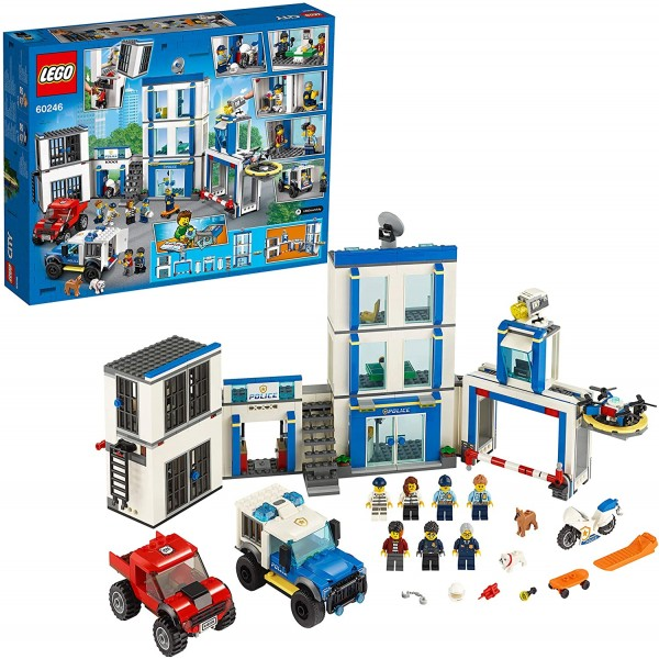 LEGO 60246 City Police Station Building Set with 2...