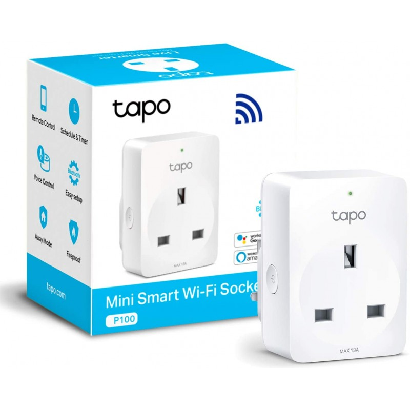 TP-Link Tapo P100 Smart Plug Wi-Fi Outlet
